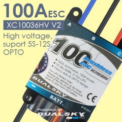 XC10036HV V2- High voltage, suport 5S-12S, OPTO,- 120A(150A, 15s) W/ 6S Lipo, 100A(120A, 15s) W/ 12S LiPo - New firmware version 2.50, fully progra