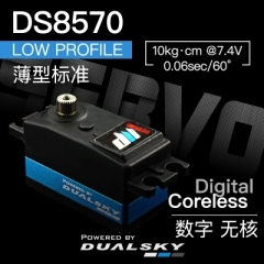 DS8570, Low profile coreless, 45g, 10kg.cm@7.4V
