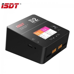 ISDT D2 200W 12A*2 AC Dual Channel Output Smart Battery Balance Charger for RC Multirotor Aircraft Battery Intelligent